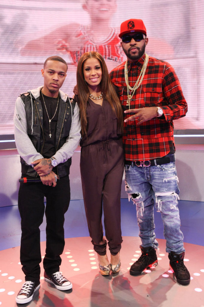 Bow Wow wearing Converse Chuck Taylor All Star; Mike Will wearing Air Jordan 6 VI Retro Infrared