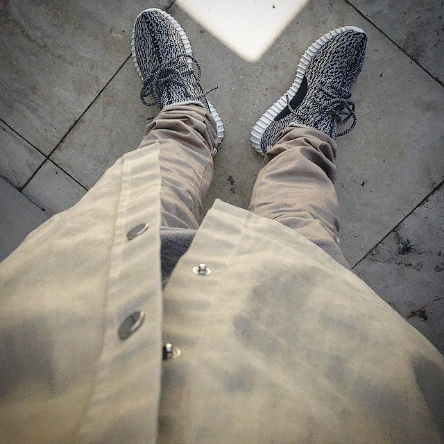 Yeezy Boost 350 Turtle Dove On Feet