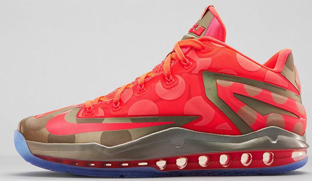 0b5febe02a07 Nike LeBron 11 Low SE  Maison du LeBron  683256-064 Metallic Zinc Hyper  Punch-Ice