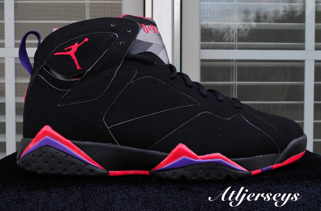 cheap for discount 9273f 789e0 Air Jordan 7 Retro - Black True Red-Dark Charcoal-Club Purple