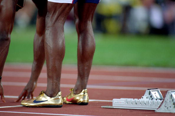 Flashback michael johnsons golden nike shoes sole collector other sprinters were given the opportunity to wear similar spikes in 1996 but none wanted to wear something with as little support as michaels aloadofball Image collections