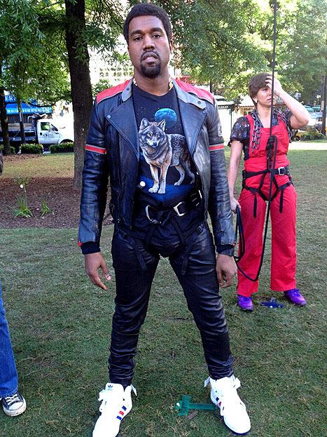 Kanye West wearing adidas Originals Forum Mid (2013)