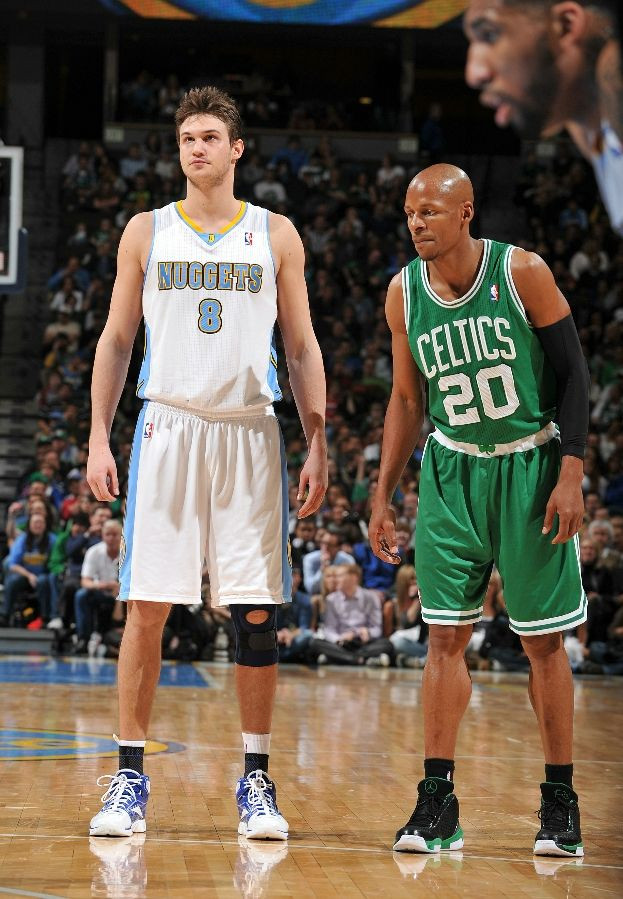 Ray Allen wearing the Air Jordan 2010 Team