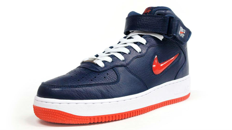 promo code 7248f 3a458 Nike Air Force 1 Mid Jewel NYC Navy Orange Icons 315123-402 (7)