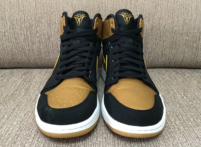 c612367667d4 Carmelo Anthony s Black Gold Air Jordan 1. images via  BarneyWang