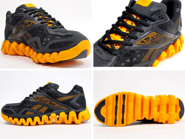 reebok zigtech orange and black