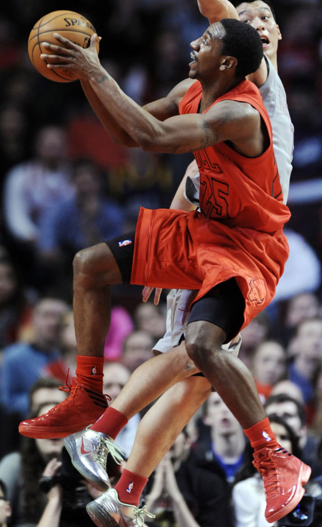 Marquis Teague wearing adidas Crazy Fast Red Black