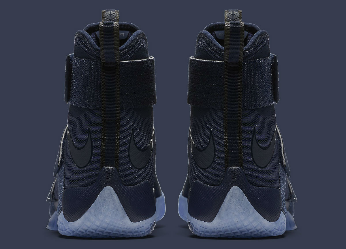 premium selection 1305d d4d16 ... Blue White Nike LeBron Soldier 10 Midnight Navy Release Date Heel 844378 -444 ...