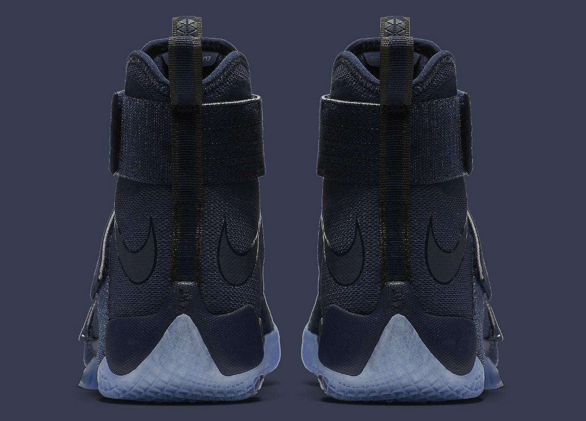 b1efefbe64e Nike LeBron Soldier 10 Midnight Navy Release Date Heel 844378-444 . ...