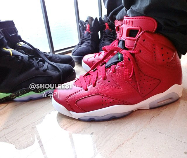 Air Jordan VI 6 Red Leather 694091-625 (8)