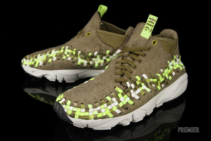 size 40 b6c97 81134 Nike Air Footscape Woven Chukka - Raw Umber   Volt