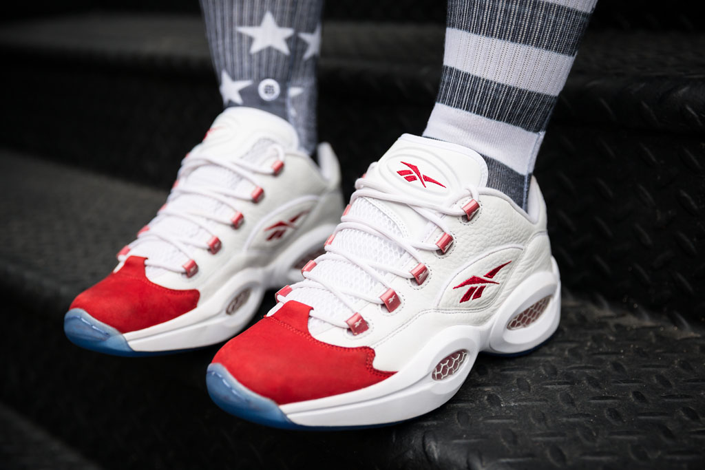 Reebok Question Low White/Red (7)