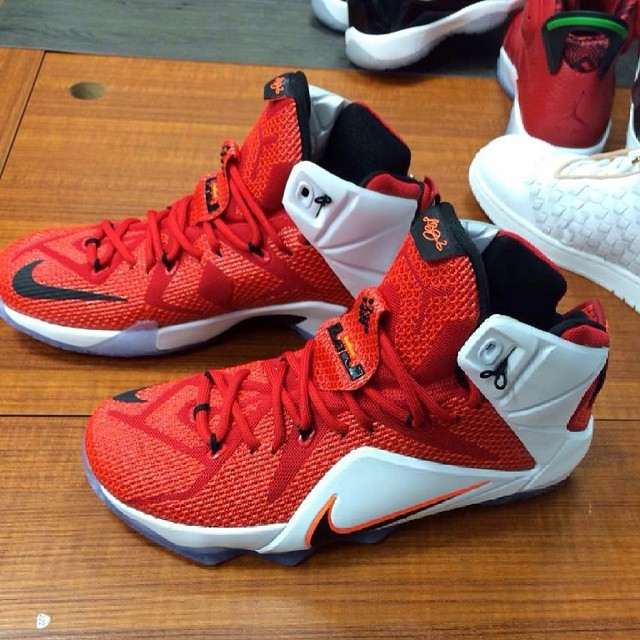 Nike LeBron XII 12 Red/White Lion Hart 684593-601 (1)
