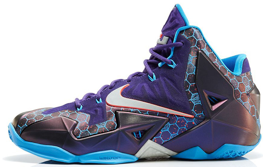 Nike LeBron 11 \u0026#39;Summit Lake Hornets\u0026#39; 616175-500 Court Purple/Reflective Silver-Vivid Blue