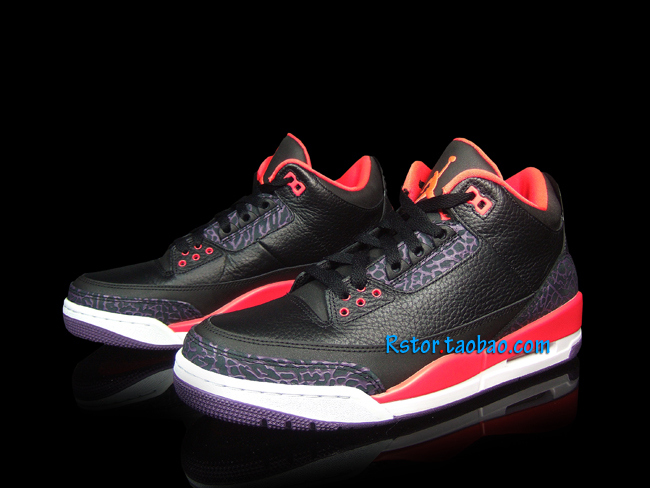 Air Jordan III 3 Black Crimson Purple 136064-005 (6)
