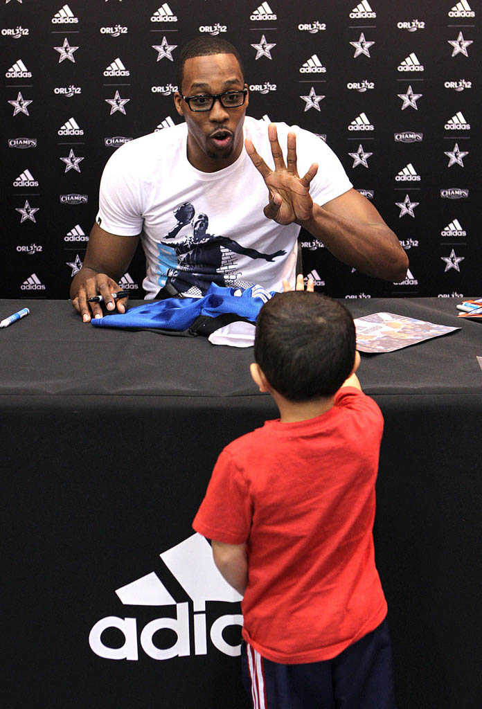 Dwight Howard's adidas All-Star Fan Appearances (2)