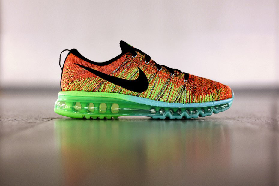 Nike Flyknit Max Orange Volt Green Teal (1)