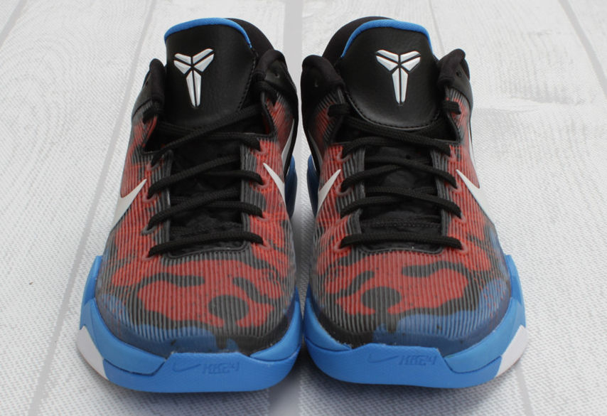 ede3fcf81ba Nike Kobe VII Poison Dart Frog Photo Blue White Team Orange Black  488371-403 (