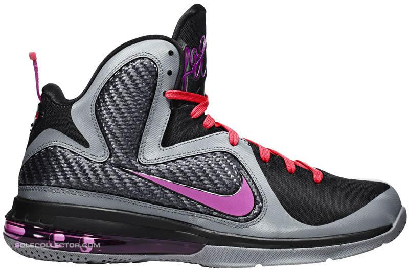 785fba10bbd2 Nike LeBron 9 Miami Nights Cool Grey Vivid Grey Black Cherry 469764-002