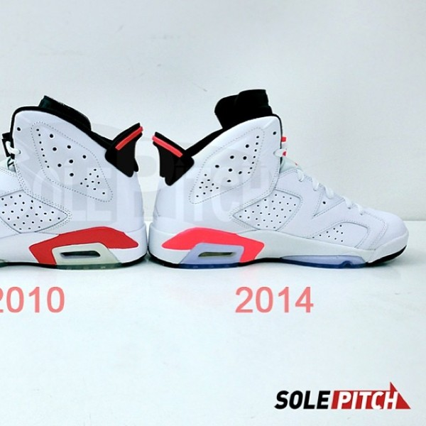 san francisco 1da32 f3371 ... coupon for air jordan 6 retro white infrared 2010 vs. 2014 comparison  0cb80 8b4c2