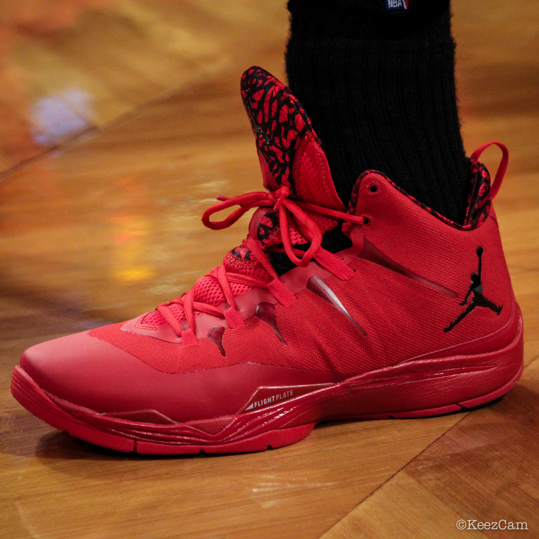SoleWatch // Up Close At Barclays for Nets vs Clippers - Blake Griffin wearing Jordan Super.Fly 2 PE