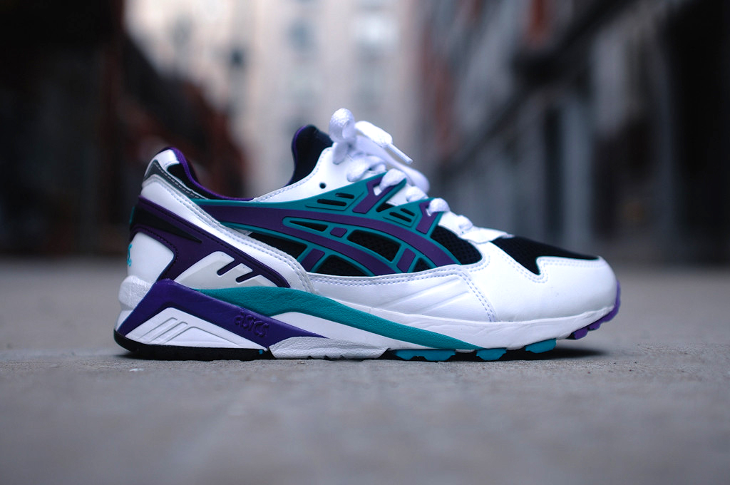 asics gel kayano white black
