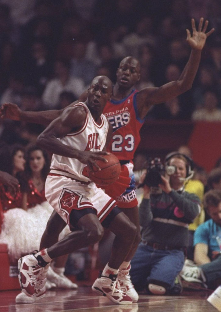 7b3c224eef725 Flashback  Michael Jordan Wearing the  Carmine  Air Jordan 6