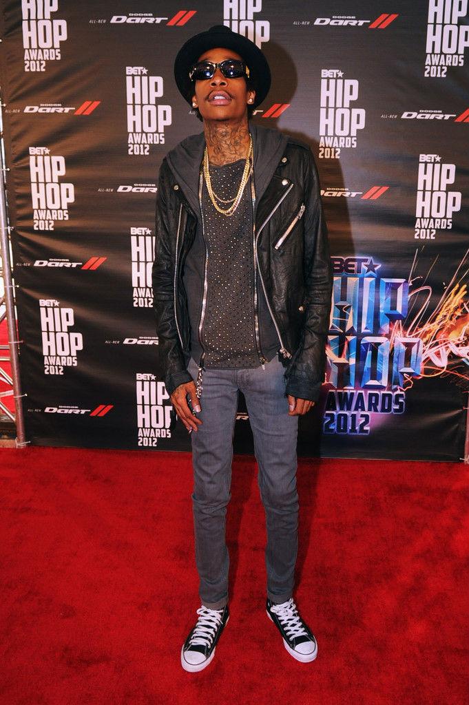 b9eb5857de4a Chuck Taylor All Star Hollywood October 2012. Wiz Khalifa wearing Converse  Sneakers (4)