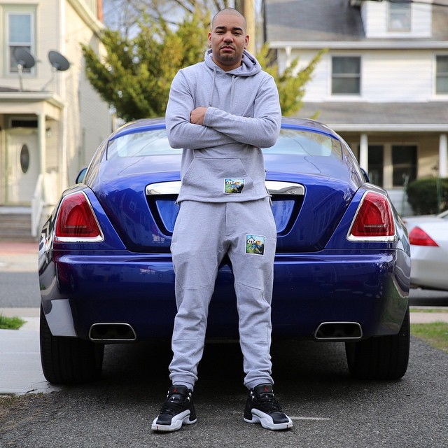 854c76143472 DJ Envy wearing the  Playoff  Air Jordan 12