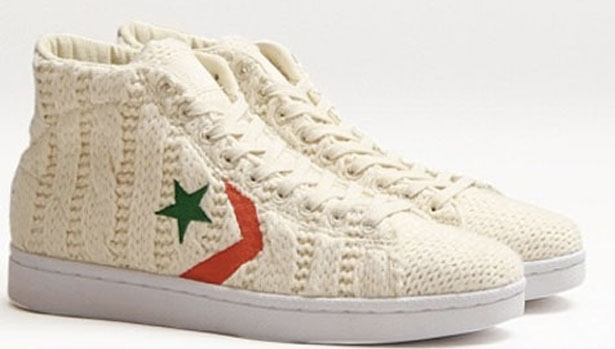 Converse Pro Leather Hi White/Red-Green