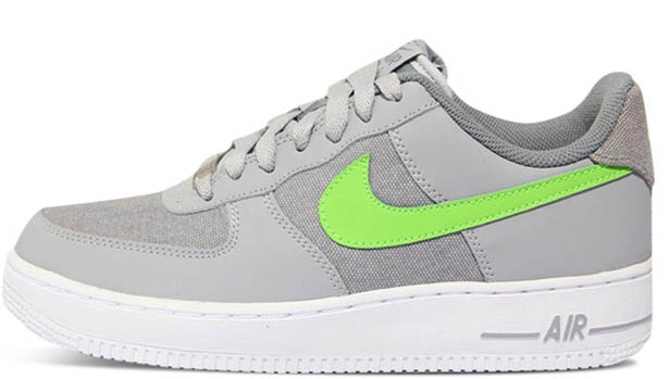 Nike Air Force 1 Low Wolf Grey/Action Green-White