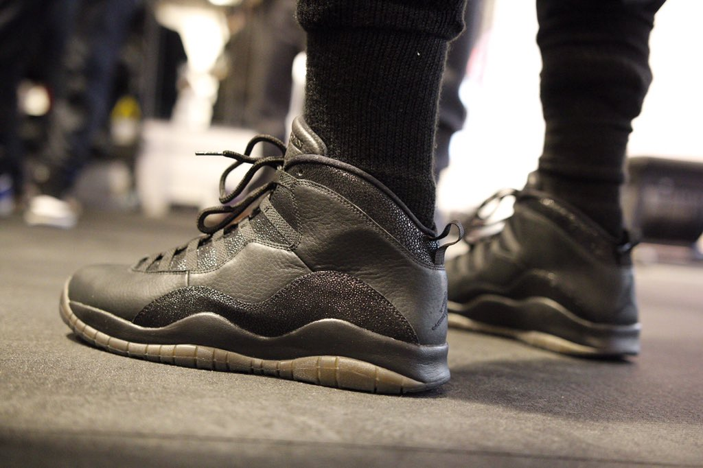 Jimmy Butler wearing the Black 'OVO' Air Jordan 10 (2)