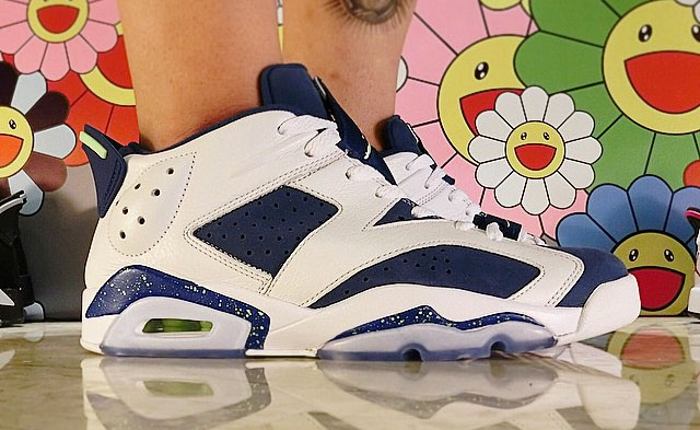 0972dd0123d3 Air Jordan VI 6 Low Ghost Green Seahawks On-Foot 304401-106 (3