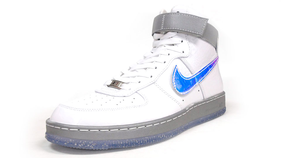 Nike Air Force 1 Downtown Hi LW QS in White hologram