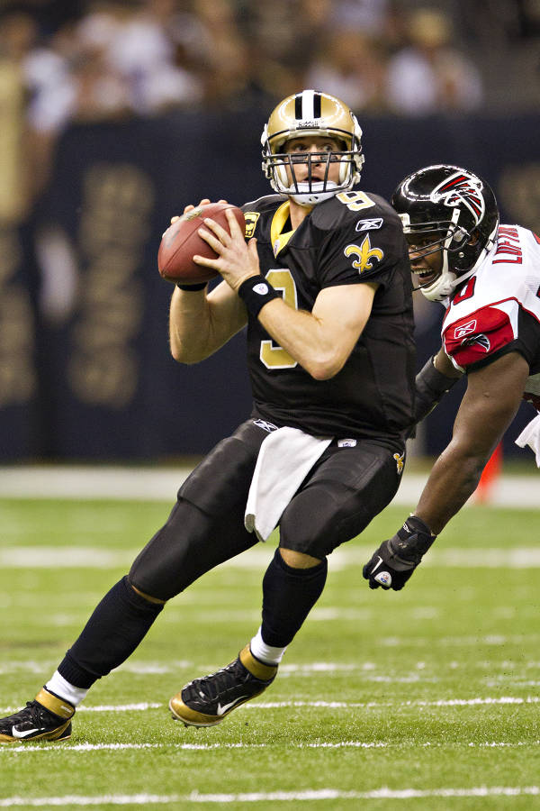 Drew Brees wearing Nike Air Zoom Super Bad 3