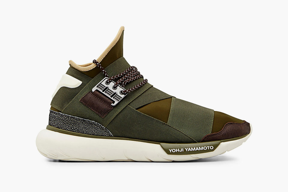 3288631cbd79 adidas Y-3 Qasa High in Khaki