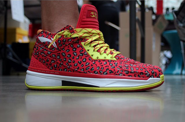 Lil_Yank in the 'Red Leopard' Li-Ning Way of Wade 2