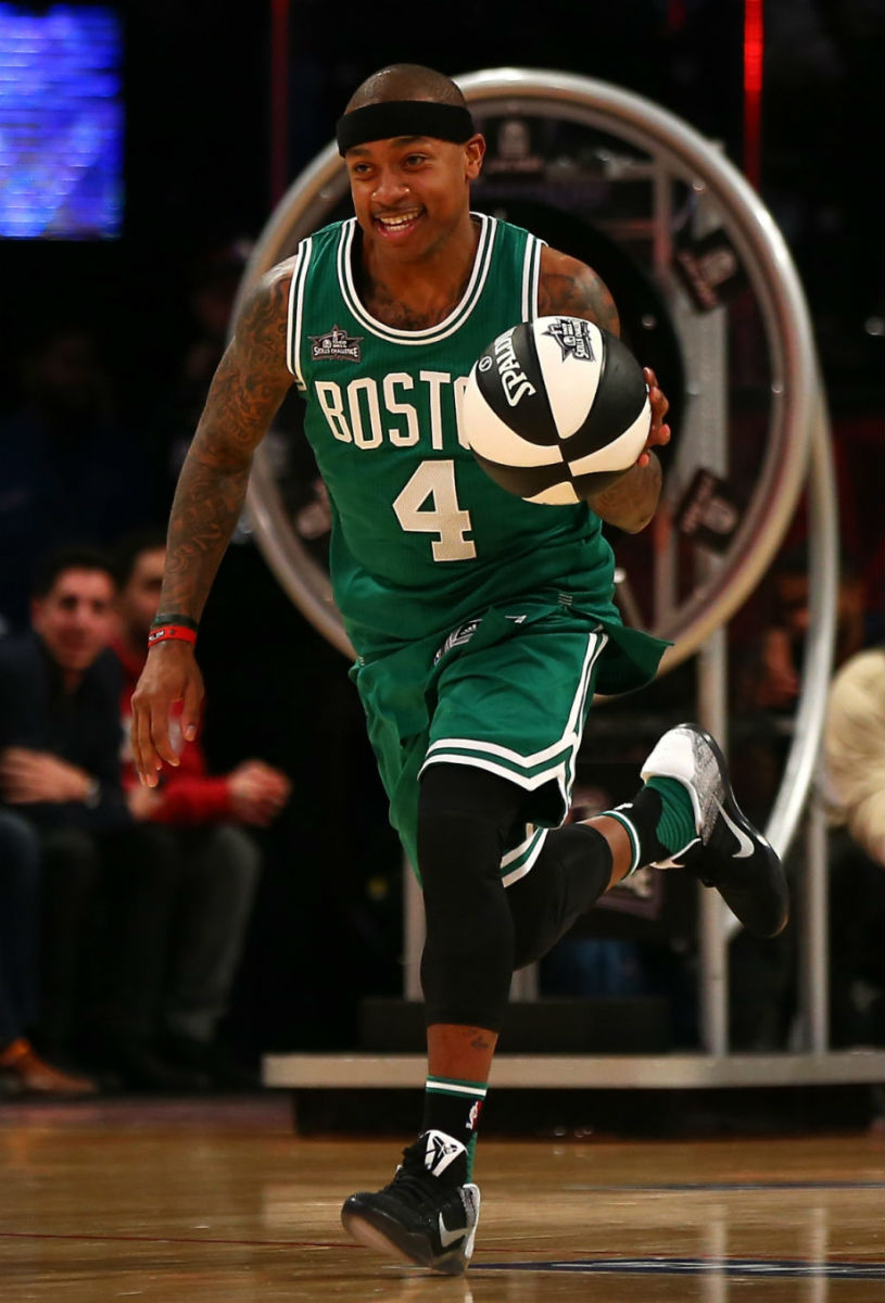 Isaiah Thomas Wearing the Nike Kobe 11