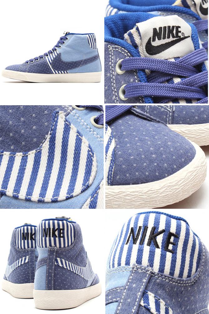 Nike Blazer Mids Dipped in Denim, Stripes, and Polka Dots