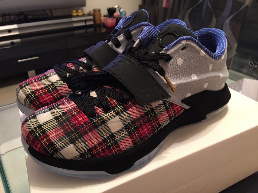 Nike KD VII 7 EXT Canvas QS QS QS Plaid Polka Dots 726439