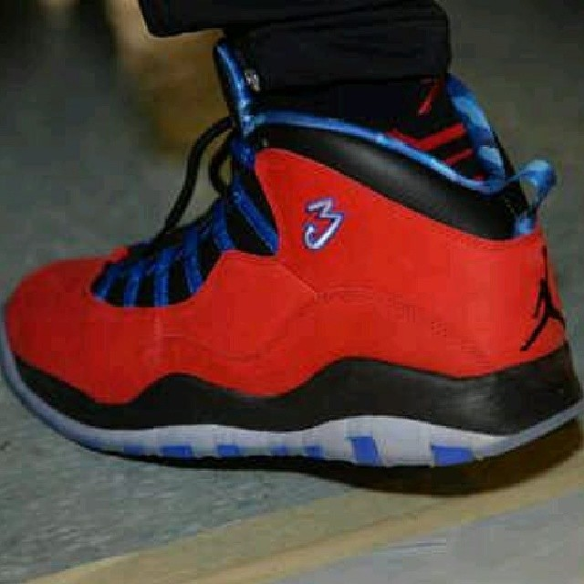 Chris Paul Wears Air Jordan 10 'Clippers' PE (1)