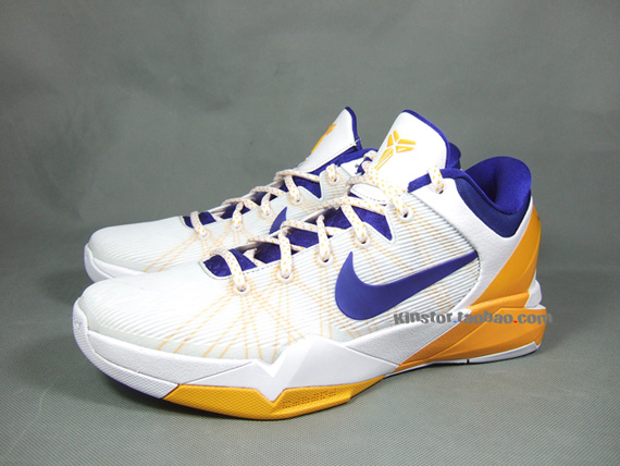newest fcbad bc6fa Another traditional colorway of the Nike Zoom Kobe VII scheduled to release  later this season is this simple Lakers  Home edition.
