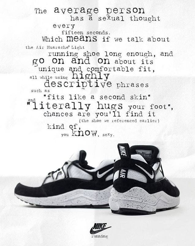 Nike Huarache Light Vintage Ad