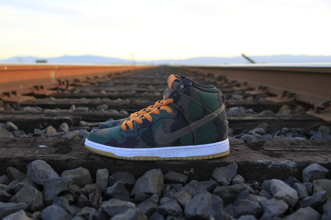 510 Skate Shop x Nike SB Dunk High Fog Camo profile