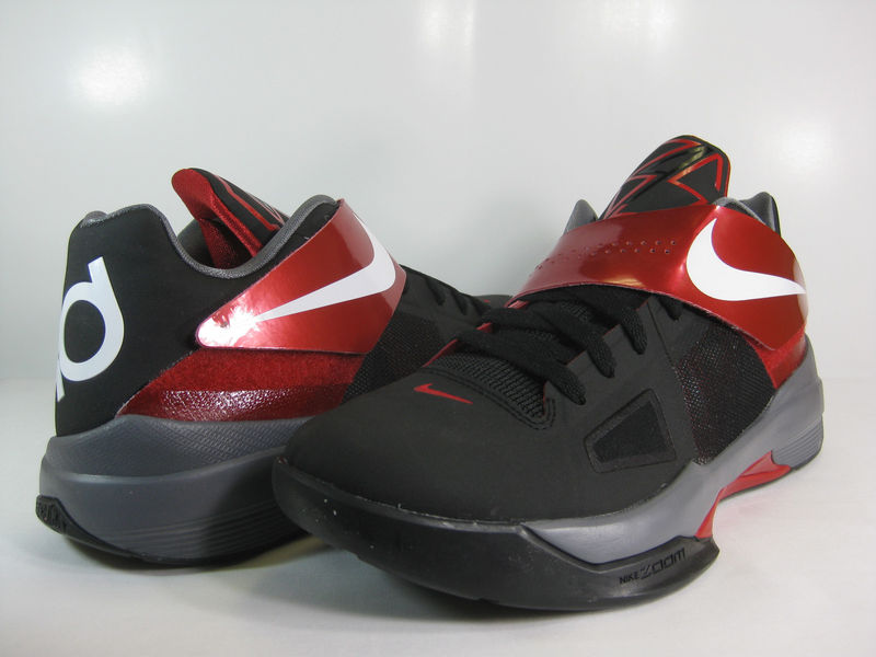 timeless design 9ba0b 24daa Nike Zoom KD IV Black White Varsity Red 473679-003 (1)