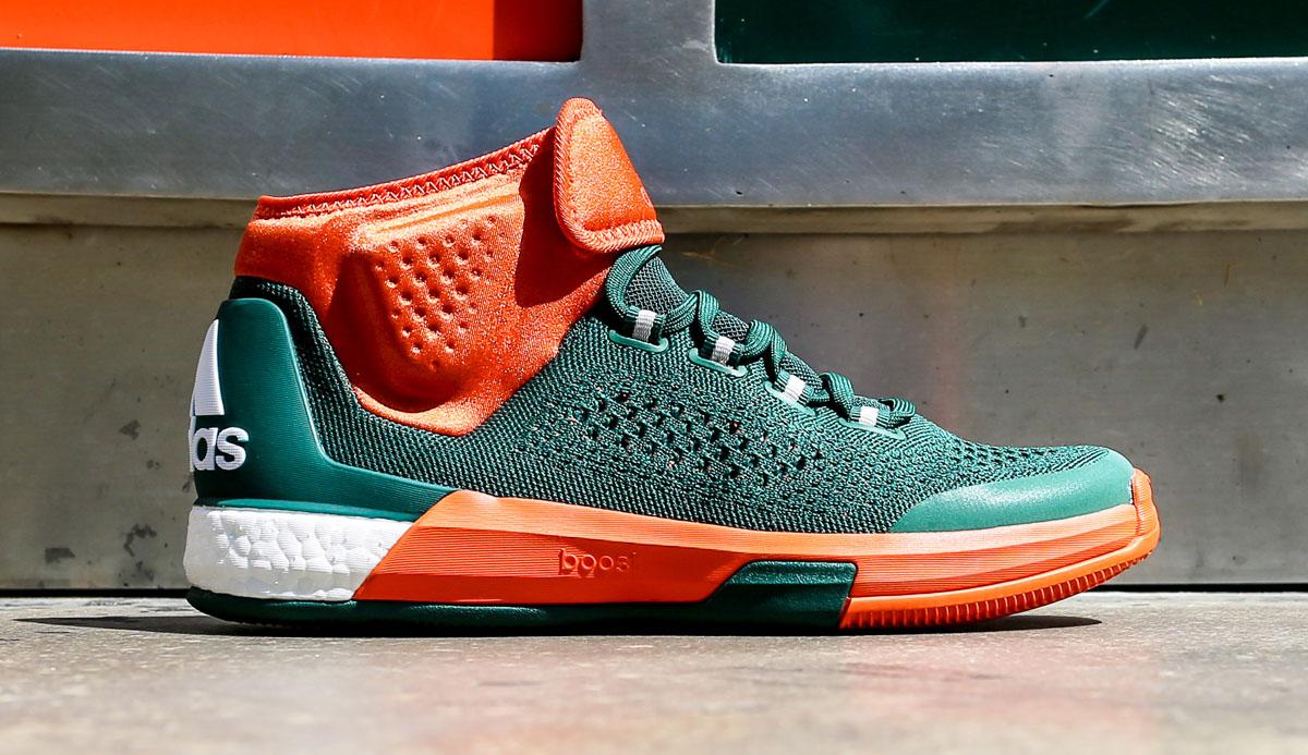 d952b35c ... wholesale miami hurricanes adidas crazylight boost 2015 8 13c1e aee43