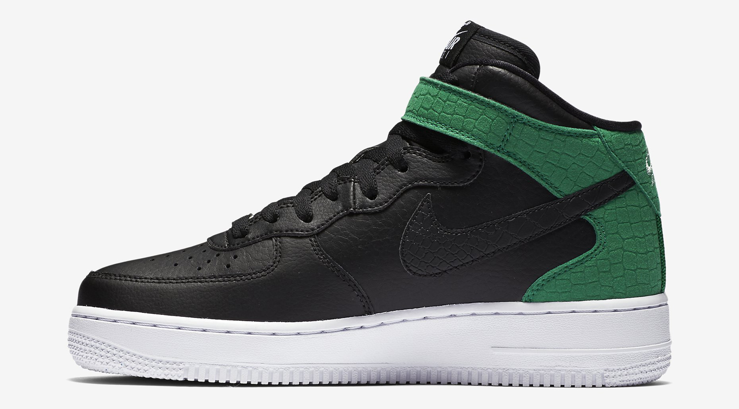 black and green air force ones