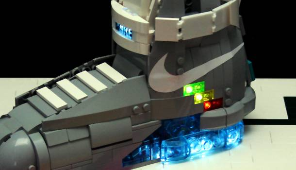 7827446f4619 Nike MAG Back to the Future Shoes - LEGO Edition