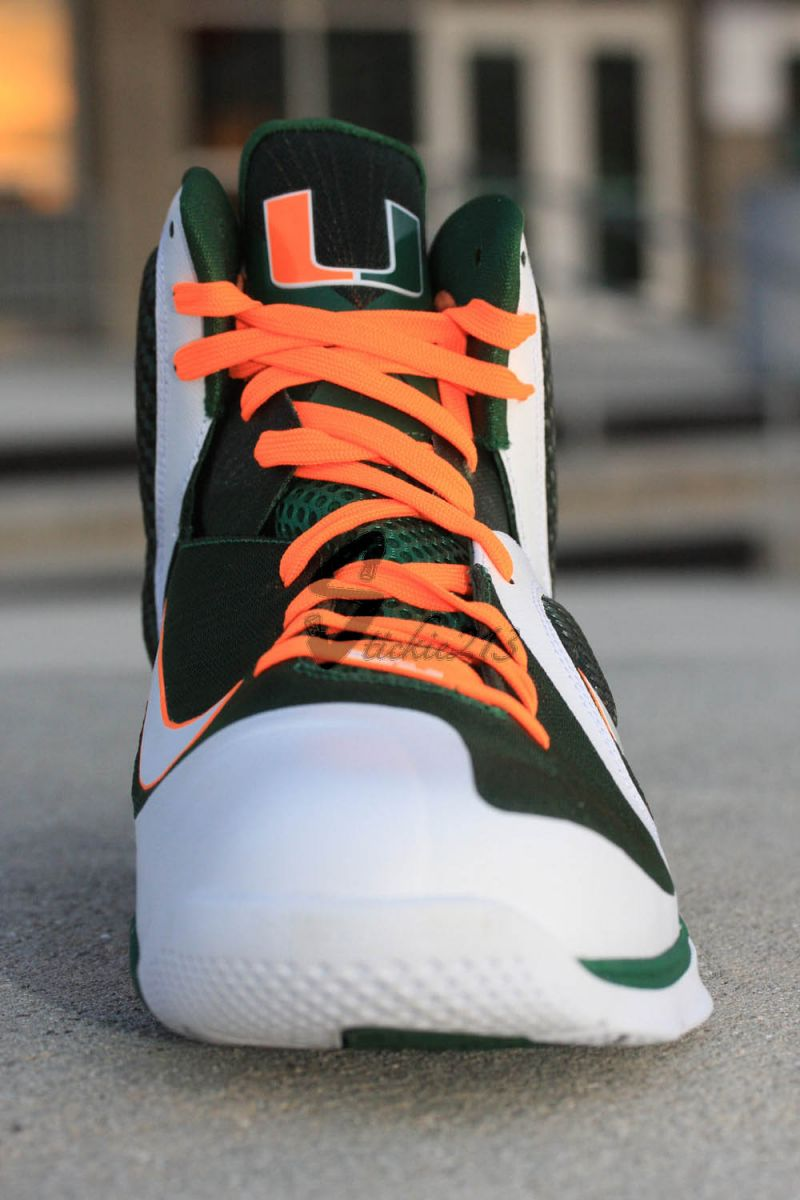 Nike LeBron 9 IX Miami Hurricanes PE 469764-102 F