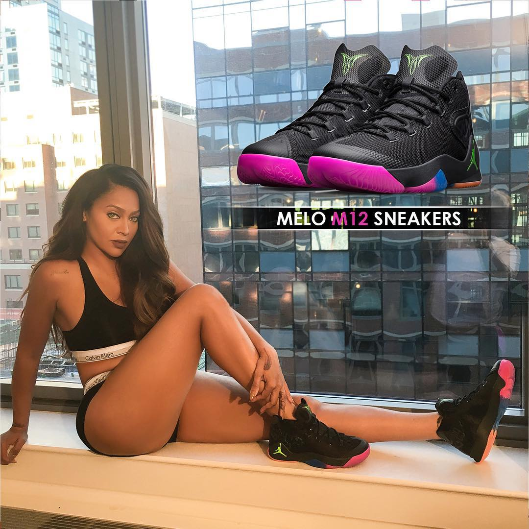 Lala Anthony wearing 'The Dungeon' Jordan Melo M12